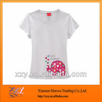 High quality 100% cotton cute elephant t shirt for women