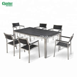 CH-T095,CH-224 aluminum frame garden furniture outdoor, outdoor patio furniture with poly wood tables chair sets
