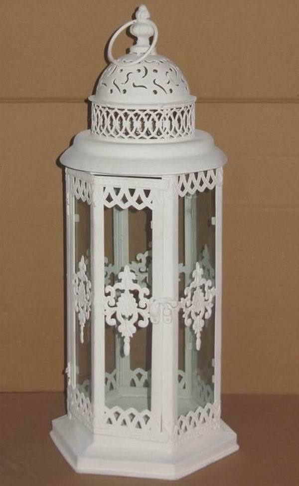 Antique white metal moroccan wholesale lanterns