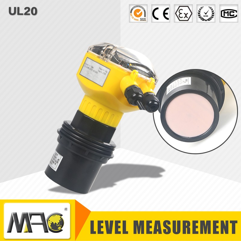 MAC UL20 ultrasonic fuel tank level sensor ultrasonic sensor water level 15m