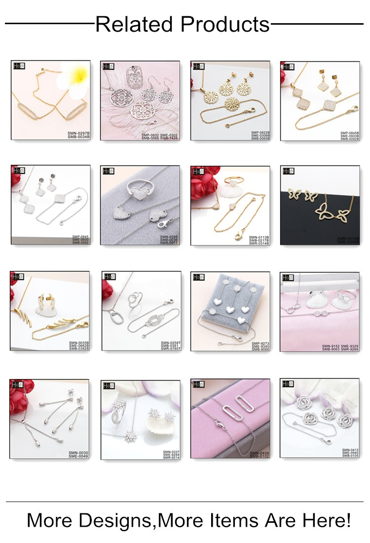 Wholesale Alibaba High Quality 925 Silver Jewelry Set, Necklace Earrings Jewelry Set For Women