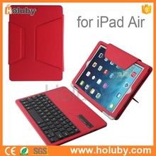 lOW MOQ Detachable Ultraslim Magnetic Flip Stand Leather Cover ABS Bluetooth v3.0 Keyboard tablet stand For iPad Air