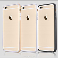 High quality TPU and aluminum bumper case for IPhone6 4.7inch hot selling cheap price two-in-one bumper China suppliers