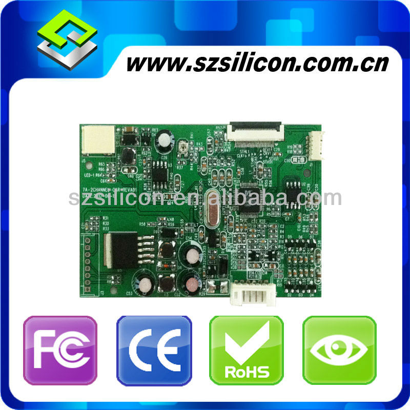7inch lvds lcd panel,display with driver board