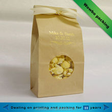 Ecofriendly kraft paper popcorn bag with window