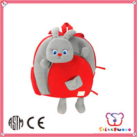 GSV ICTI Factory lovely plush fabric filled kids rolling backpack