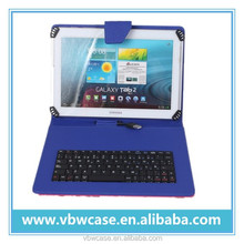10.1 tablet leather case with keyboard, 10.1 inch tablet keyboard case micro usb