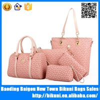 2015 Europe fashion 4 pieces in 1 pu leather ladies tote handbag women alibaba China