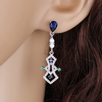 Newest design 925 sun silver jewelry earring with cz Wholesale for Lady