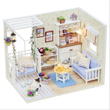 mini furniture kids favorite toy fashion custom wooden DIY children's small doll house furniture sets
