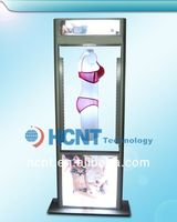 New Invention ! magnetic levitation led display rack for underwear, school girls in bra photos