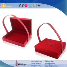 Chinese red moon cake boxes for portable gift packing boxes