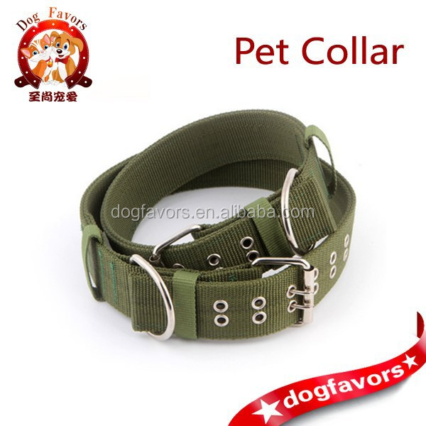 Pet Supplies - thicken webbing collar army - fighting leash - pet collar - leash - the dog rope - Big Dog Special