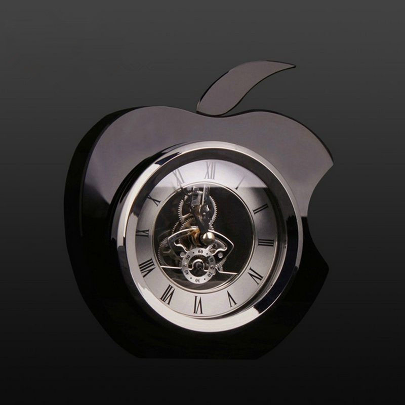Apple shape personalized crystal clock