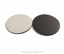 Customized Round flexible rubber magnet with adhesive