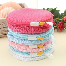 polyester net mesh travel laundry folding bra portable underwear wash bag