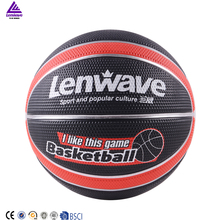 Lenwave brand custom printed colorful rubber basketball