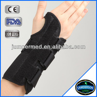Immobilization wrist and palm support for left hands with generous thumb opening