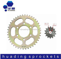 428 42T 14T motorcycle chain sprocket; motorcycle spare parts made in China