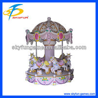 High quality amusement park electric kids small carousel for sale