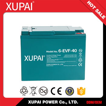 6-EVF-40 Electric Car Battery Pack 48V 12V 40AH
