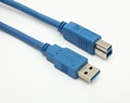 USB 3.0 AM TO BM printer cable blue jacket