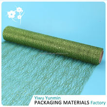 New product OEM design nylon Glitter Random flower mesh wrapping gift paper roll