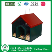 bird house bird cage wood automatic cat feeder timer