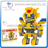 Mini Qute BALODY American super hero change robot Bumblebee plastic Series connect building blocks boys educational toy NO.68018