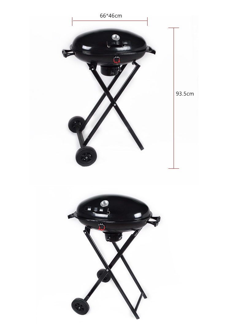 newest premium quality stand sales Trolley foldable bbq grill portable