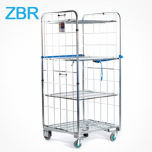Warehouse Zinc Coated Wire Rolling Logistic Cart