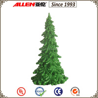 "10.9"" tabletop christmas tree decoration, green glittered artificial christmas pine tree"