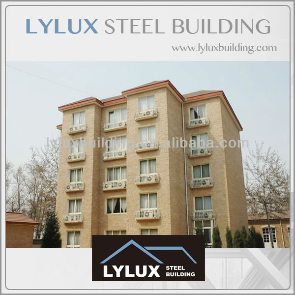 Steel structure real estate apartment building,hotel apartment