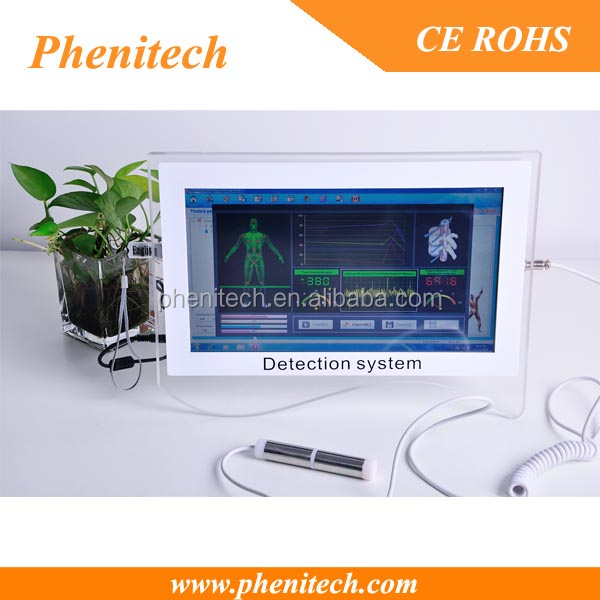 Portable touch screen quantum analyzer machine, full body health analysis device