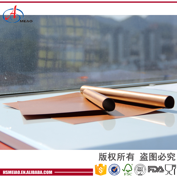 2017 new product copper color bbq grill mat / golden bbq grill mat / bbq grill sheet