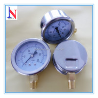 Stainless steel industrial bourdon tube pressure gauge
