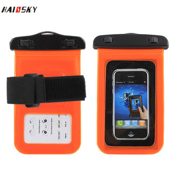 HAISSKY waterproof bag armband for iphone 7/7 plus , high quality waterproof pouch dry bag with armband for iphone 6/6 plus