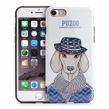 Lovely Dog Pattern Design IMD Craft Soft TPU Cell Phone Back Cases Cover for iPhone 6 6s Plus