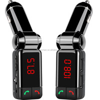 Hot selling Bluetooth FM Transmitter Dual USB Car Charger bluetooth handsfree car kit