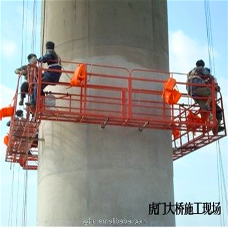 wholesale construction gondola lift/scaffolding platform for wall of high building painting and window cleaning