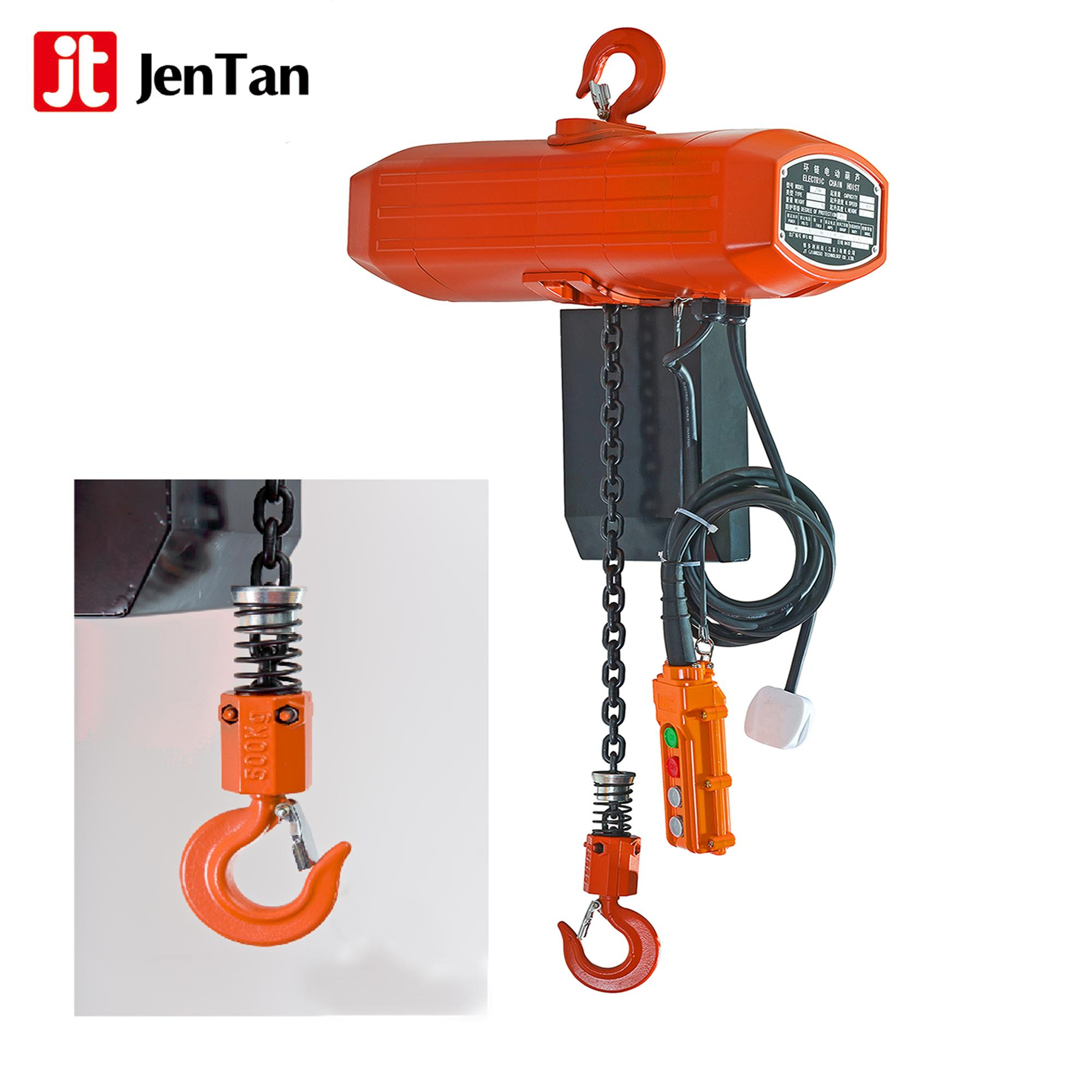 JenTan 1TON 2TON 3TON Round Electric Chain Hoist Used