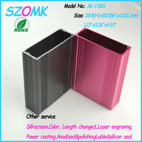 multicolor middle size pcb aluminum enclosure with integral body and top and buttom panels
