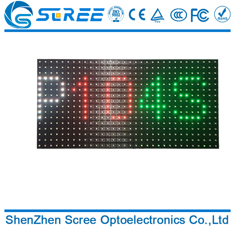 CE, ROHS customize p10 led module 16x32 dots full color video p10 screen