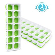 14 Cups Shape ice cube tray & Small silicone ice cube molds with leakproof cover