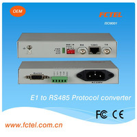 75-120ohm 1/2/4/8/16 e1 to RS232/422/485 converter,bnc to rs232 data converter transceiver receiver