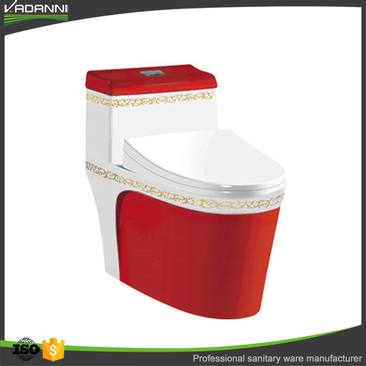 China factory porcelain siphonic red one piece toilet