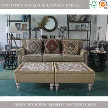 french wooden ottoman sofa furniture living room