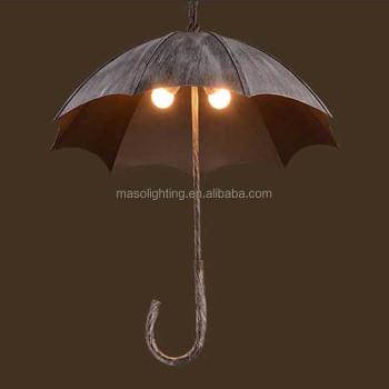 New Coffee shop Industrial Loft Retro Creative Umbrella Pendant lamp five heads Vintage hanging lamp for Resturant indoor decor