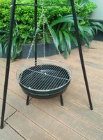 New Style of Tripod Hanging Charcoal Grills for Backyard Cooking
