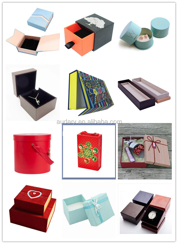 Gift Boxes Case for Jewelry Ring Earrings Watch Box Black PU Leather